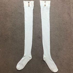 Accessories - Ivory Knee High Socks